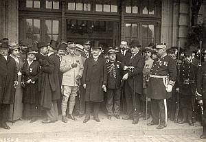 Paul Deschanel & Officials Paris WWI old Photo 1918