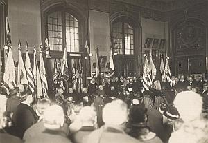 US General Lewis Independence Flags Paris Photo 1918
