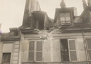 Gothas Raid Shelling Bombing Paris WWI old Photo 1918