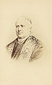 Pope Pie IX Portrait Old CDV Franck Photo 1870