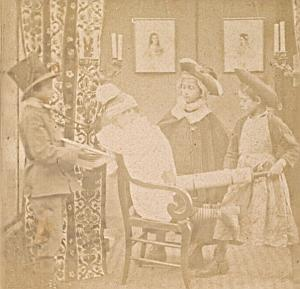 Doctor Humoristic Scene France Old Photo Stereo 1870