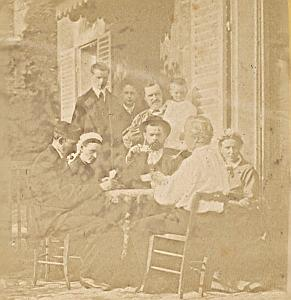 Cards Players Scene France Old Photo Stereo 1870