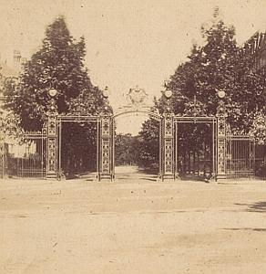 Monceau Park Paris France Old Stereo Photo 1870