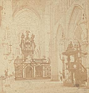 Bruges St Sauveur Church Belgium Old Stereo Photo 1870
