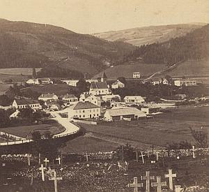 Village Switzerland ? Old Stereo Photo 1870