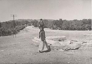 Palestine Travel Caya Fountain Animated Old Photo 1934