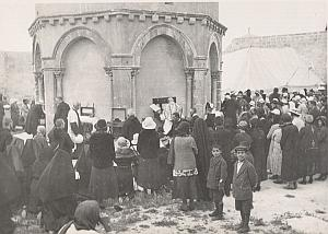 Palestine Tour Jerusalem Mass around Mosque Photo 1934