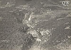 Gorges du Loup Aerial View France Old CAF Photo 1920's