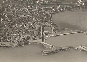 Antibes Harbour Aerial View France Old CAF Photo 1920's