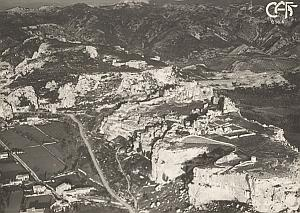 Baux de Provence Aerial View France Old CAF Photo 1920s