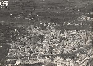 Orange Panorama Aerial View France Old CAF Photo 1920s