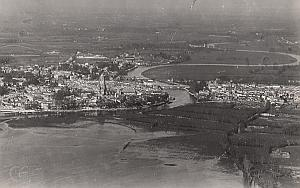 Saintes Panorama Aerial View France Old CAF Photo 1920s