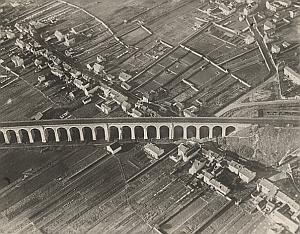 Fontainebleau Aerial View France Old CAF Photo 1920's