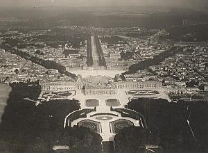 Versailles Aerial View France Old CAF Photo 1920's