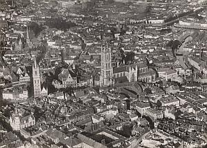 Brussels Panorama Aerial View Belgium Old Photo 1920's