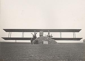 Giant Biplane World Record 6000kg old Photo 1930