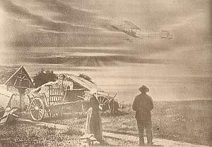 Aviation Pioneer Pictorialist Photomontage Branger 1910