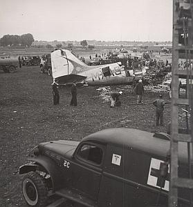 Morocco Casablanca Douglas Plane Crash Old Photo 1950