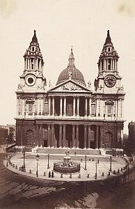 St Pauls Cathedral London United Kingdom Old Photo 1880