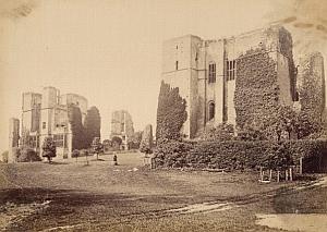 Warwick Castle United Kingdom Old Bedford Photo 1880