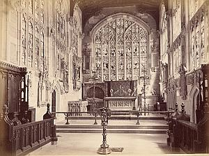 Stratford on Avon Church Chancel Old Bedford Photo 1880