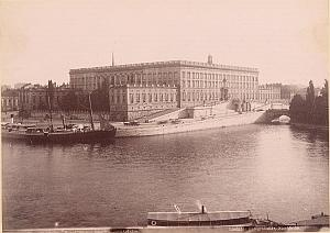 Slottet Kungstradgarden Stockholm Sweden Old Photo 1880