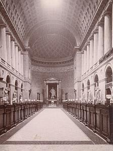 Copenhagen Church Interior Denmark Old Photo 1880
