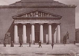 Denmark Copenhagen Church facade Old Photo 1890