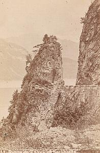 Axen & Seelisberg Road Switzerland Old CDV Photo 1870