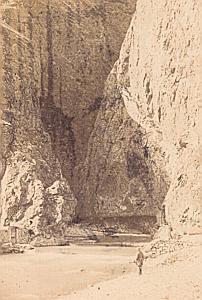Trient Interior Valais Switzerland Old CDV Photo 1870
