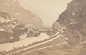 Saint Maurice panorama Switzerland Old CDV Photo 1870
