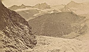 Grindelwald Sea Ice Switzerland Old CDV Photo 1870