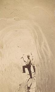 Grindelwald Ice Tunnel Switzerland Old CDV Photo 1870