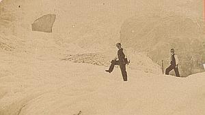 Grindelwald Glacier Tourism Switzerland CDV Photo 1870