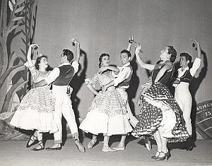 Caravana Ballets Dance Old Lipnitzki Photo 1960