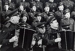 Military Orchestra Choir France Old Photo Pic 1960