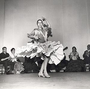 Zambra Ballet Flamenco Folk Dance Photo Lipnitzki 1960