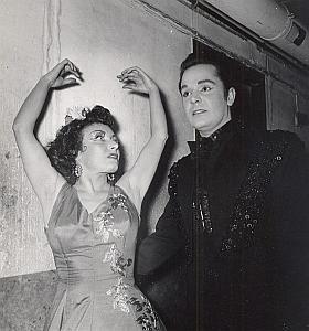 Spanish Flamenco Ballet Dancers Valentino Miralda Photo Lipnitzki 1960