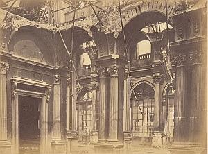 City Hall Destruction Commune Paris Old Photo 1871