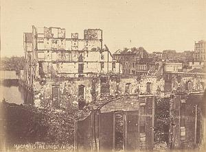 Magasin Reunis Destruction Commune Paris Old Photo 1871