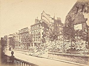 St Martin Door Destruction Commune Paris Old Photo 1871