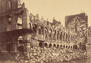 Rivoli Street Destruction Commune Paris Old Photo 1871