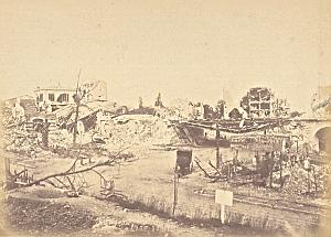 Auteuil Station Destruction Commune Paris Photo 1871