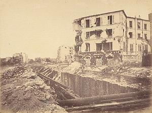 Auteuil Door Destruction Commune Paris Old Photo 1871