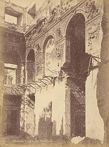 Tuileries Palace Destruction Commune Paris Photo 1871