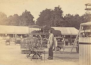 Agricultural Exhibition Colmar Old Cabinet Card Photo Adam 1867