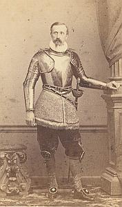 Swiss Guards Pontifical Army Old CDV Photo 1865