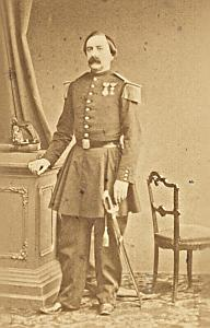 Captain Second Empire Army France Old CDV Photo 1865