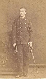 Marine Second Empire Army France Old CDV Photo 1865