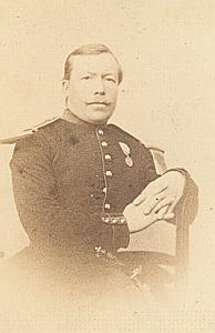 Officer Second Empire Army France Old CDV Photo 1865